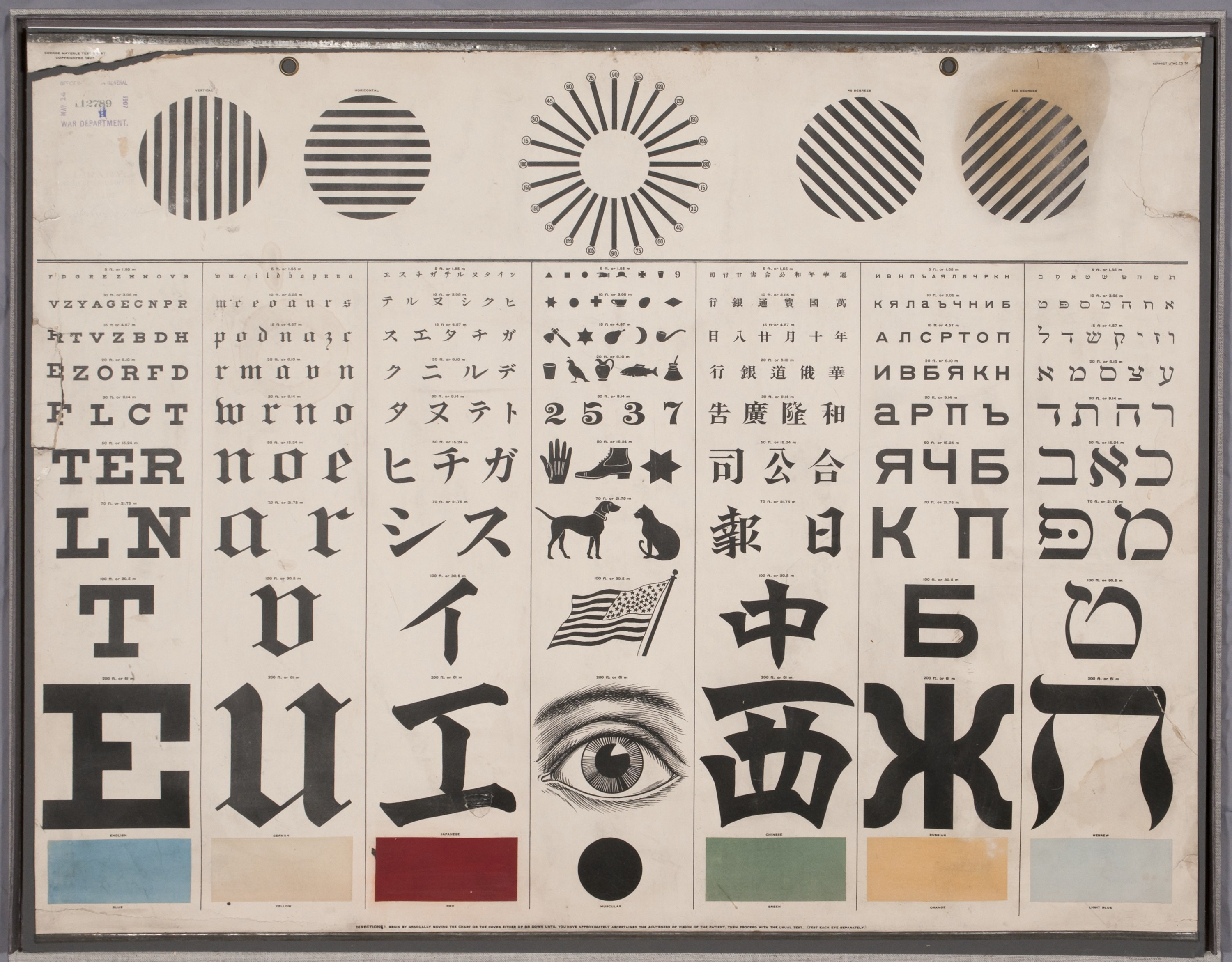 George Mayerle vision test chart